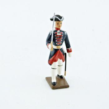 officier des grenadiers de la garde française -  louis xv (1740)