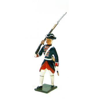 fantassin avec fusil des grenadiers de la garde française -  louis xv (1740)