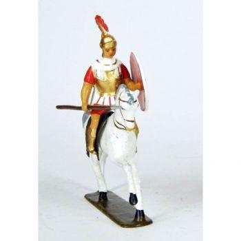cavalier grec avec lance, cape blanche