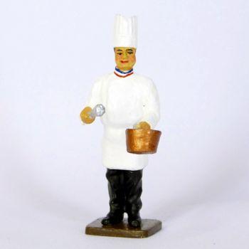 le Cuisinier avec casserole et fouet
