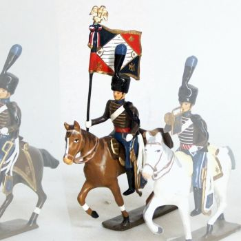 etendard de la compagnie d'elite du 2e hussards (1808)