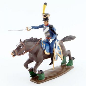 officier du 7e Hussards à la charge