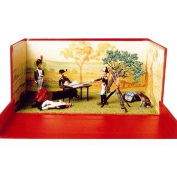 """diorama """"la Veillée d'Austerlitz"""" (1er décembre 1805)"""