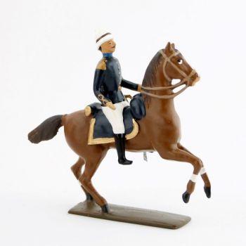 officier à cheval de l'infanterie coloniale (1880)