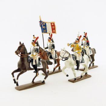 Cuirassiers à cheval - ensemble de 4 figurines