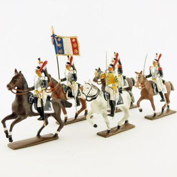Cuirassiers à cheval - ensemble de 5 figurines