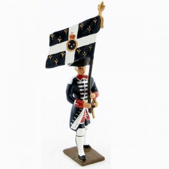 drapeau des fusiliers de la garde française louis xvi (bicornes) (1789)
