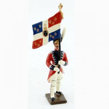drapeau des grenadiers de la garde suisse - louis xvi (1789)