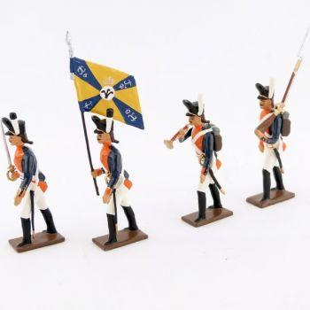 """ensemble de 4 figurines """"26e régiment de ligne prussien"""""""
