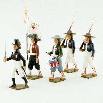 """ensemble de 5 figurines """"Armée catholique et royale de Vendée"""""""
