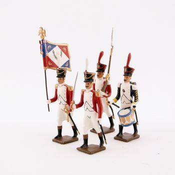 """ensemble de 4 figurines """"bataillon Valaisan"""""""