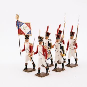 """ensemble de 6 figurines """"bataillon Valaisan"""""""