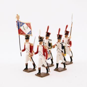 """ensemble de 5 figurines """"bataillon Valaisan"""""""