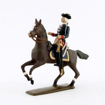 officier de la cavalerie louis xv, régiment d'anjou (1740)