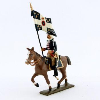 etendard de la cavalerie louis xv, régiment d'anjou (1740)