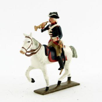 trompette de la cavalerie louis xv, régiment d'anjou (1740)