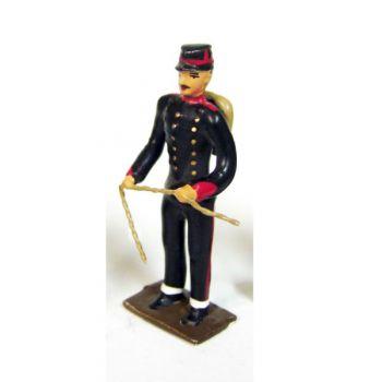 servant d'artillerie de campagne avec mèche