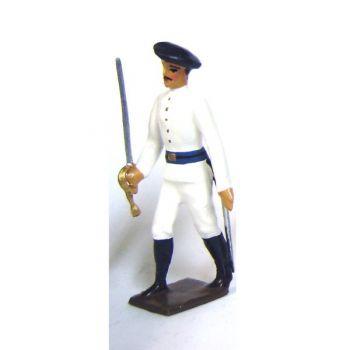 officier des chasseurs alpins en tenue d'hiver (blanc)