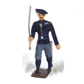 officier des chasseurs alpins, tenue bleue