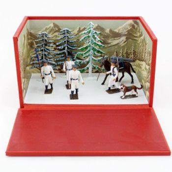 petit diorama les Chasseurs Alpins