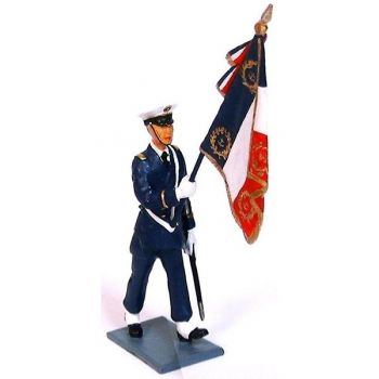 porte-drapeau de l'Ecole Navale