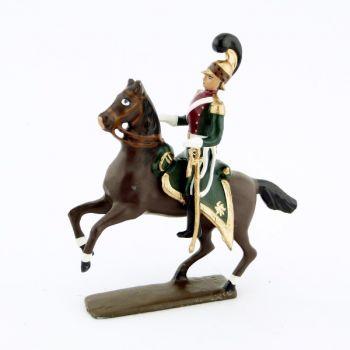 officier des chevau-léger 4ème rgt (plastron cramoisi) (1812)