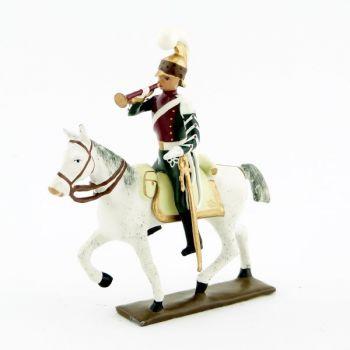 trompette (d'ordonnance) des chevau-léger 4ème rgt (plastron cramoisi) (1812)