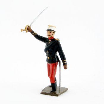 officier du régiment espagnol 1880 à l'assaut