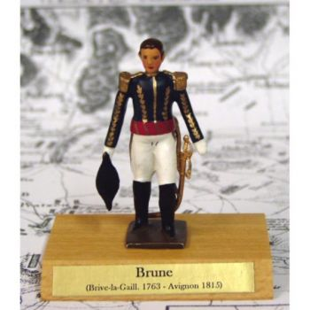 maréchal Brune sur socle bois