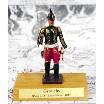 maréchal Grouchy sur socle bois