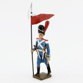 2ème porte-aigle (rouge) de la division Oudinot