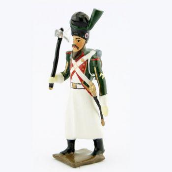 sapeur du 1er régiment de la Garde de Paris (1803-1809) avec hache