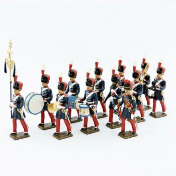 """ens. de 12 figurines """"musique des Grenadiers à pied de la Garde Impériale (1860-1870)"""""""