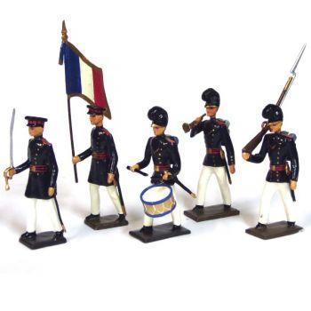 """ens. de 5 figurines """"équipage de ligne (1832)"""""""