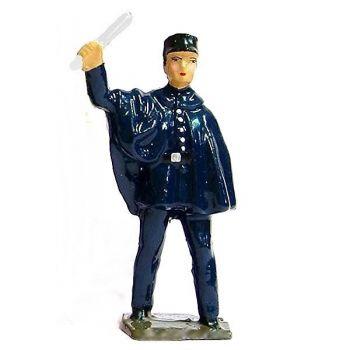 """agent de police circulation avec pèlerine ou """"Hirondelle"""" (1950)"""