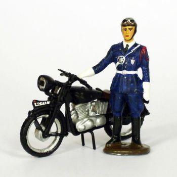 motard de police (1950) et sa moto Terrot