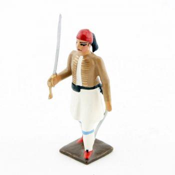 officier des evzones (infanterie de la garde grecque)