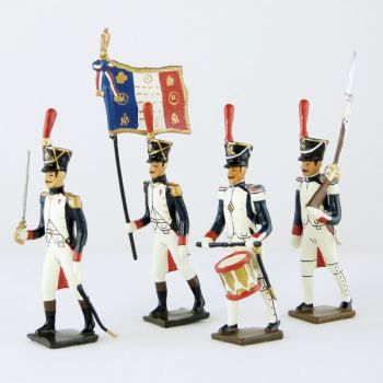 Fusiliers-grenadiers (1809-1813) - ensemble de 4 figurines