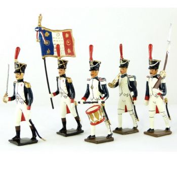 Fusiliers-grenadiers (1809-1813) - ensemble de 5 figurines