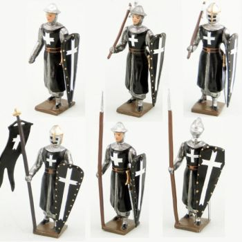 Hospitaliers, ensemble de 6 figurines