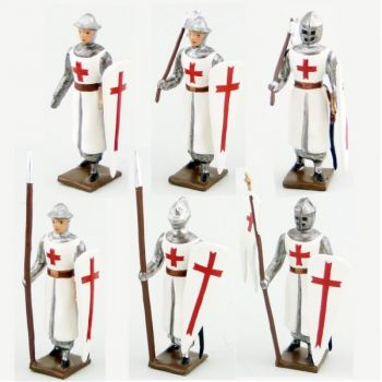 Templiers, ensemble de 6 figurines