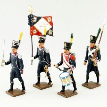 17e Rgt d'Infanterie légère, ensemble de 4 figurines