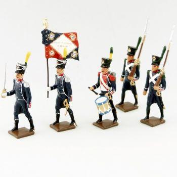 17e Rgt d'Infanterie légère, ensemble de 5 figurines