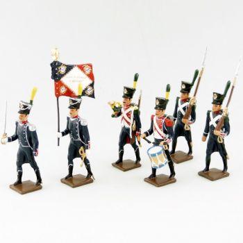 17e Rgt d'Infanterie légère, ensemble de 6 figurines