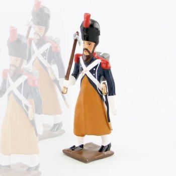 sapeur du 17e Rgt d'Infanterie légère avec hache