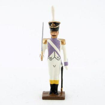 officier des voltigeurs du 33ème de ligne (1806) au fixe