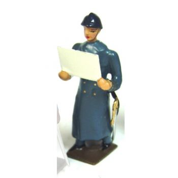 officier avec carte