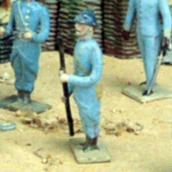 soldat au fixe, avec levier
