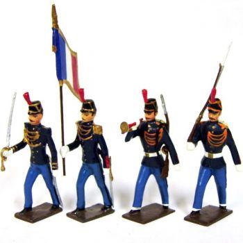 garde de Paris, ensemble de 4 figurines