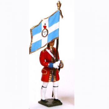 drapeau des grenadiers de la garde suisse louis xiv (1670)